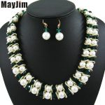 MayJim Statement necklace 2018 fashion <b>jewelry</b> sets <b>Handmade</b> big beads chain crystal Pearl <b>jewelry</b> sets Vintage beads Bijoux