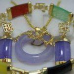 Prett Lovely Women's Wedding Pretty multicolor gem pendant earring bracelet set>AAA GP Bridal wide watch wings silver <b>jewelry</b>