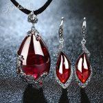 JIASHUNTAI Retro 100% 925 <b>Sterling</b> <b>Silver</b> Pendant Necklac Drop Earrings For Women Vintage Natural Stone <b>Jewelry</b> Sets