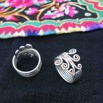 Hot sale new Style >>>Guizhou Yunnan ethnic <b>handmade</b> original Miao silver <b>jewelry</b> ring men and women personalized roll ring