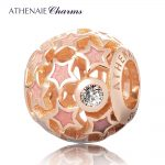ATHENAIE Genuine 925 Sterling <b>Silver</b> Starry Night Openwork Enamel Charm Beads Fit All European <b>Bracelets</b> Necklace DIY Jewelry