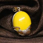 Yellow imitation resin beeswax teardrop pendant fit for diy sweater chain long necklace <b>jewelry</b> <b>accessories</b> 25*31mm B1848