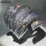 choucong <b>Handmade</b> Big cross Ring 5A Zircon Cz 925 Sterling Silver Engagement Wedding Band Rings for women men Finger <b>Jewelry</b>