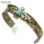 Vintage Antique Carved Eagle Navajo Viking Bracelets for Women Bangle bileklik Pulseiras Cuff <b>Native</b> <b>American</b> Indian Men <b>Jewelry</b>