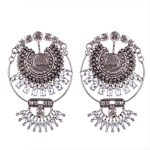 Wholesale Brand <b>Antique</b> Vintage Silver Crystal Statement Earrings American High Street Retro <b>Jewelry</b> Earring