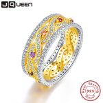 JQUEEN Natural Amethyst and Citrine Wedding Rings Gold Infinity Love 925 <b>Sterling</b> <b>Silver</b> For Women Fine <b>Jewelry</b> With Gift Box