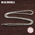 BALMORA 100% Real 925 Sterling Silver Chokers Necklaces for Men Silver Necklace 40cm Long Chains <b>Accessories</b> <b>Jewelry</b> JLWC60107