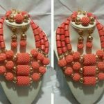Original Coral Beads Nigerian Wedding African <b>Jewelry</b> Sets Bold Statement <b>Necklace</b> Set Chunky Free Shipping CNR693