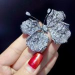 unisex insect 925 <b>sterling</b> <b>silver</b> with cubic zircon butterfly brooch pins leaf butterfly fashion <b>jewelry</b> for women and men