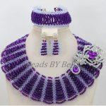 <b>Handmade</b> Fashion Bridal <b>Jewelry</b> Sets Nigerian Wedding African Beads <b>Jewelry</b> Set Crystal Purple Jewellery Free Shipping ABF720