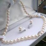 "2017 Pretty!8-9mm White Tahiti Pearl Necklace 17""+Earrings Beads Fashion <b>Jewelry</b> <b>Making</b> Design <b>Jewelry</b> Set Natural Stone"