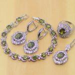 Classic 925 Sterling <b>Silver</b> Jewelry Yellow Zircon Jewelry Sets For Women Earrings/Pendant/Necklace/Rings/<b>Bracelet</b> T204