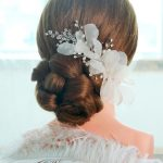 1pc/lot Handmade White Voile Silk Floral Flower Bridal Hair Clip Pins Barrette Bride Classic Hairband <b>Jewelry</b> Ornament For Women