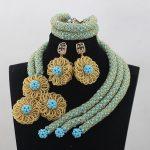 Sky Blue Crystal Wedding African Beads <b>Jewelry</b> Sets Fashion Indian <b>Handmade</b> <b>Jewelry</b> Bridemaid <b>Jewelry</b> Sets Free ShippingABH020