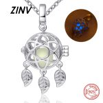 2018 new arrival 925 sterling silver dreamcatcher glowing chain necklace&pendant diy European fashion <b>jewelry</b> <b>making</b> for women
