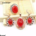 KJJEAXCMY Boutique jewelry Choi Po jewelry 925 <b>silver</b> inlaid natural red chalcedony factory direct