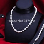 Woman <b>Jewelry</b> Gift Top Real Pearl 9-10mm AAA Natural Real Pearl <b>Handmade</b> Bracelet Necklace Earring Set Freshwater Pearl