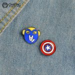 OMENG 2017 Fashion Enamel Pin for Woman Brooch Pin Button Jeans Bag <b>Decoration</b> Gift <b>Jewellery</b> Gifts OXZ006