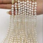 Wholesale 10strip 7-8mm White Pearl Necklace Chain Fish Shape Buttons 18inch DIY Handmade Women Fashion <b>Jewelry</b> <b>Making</b> Design