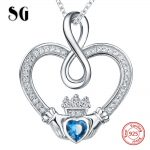 100% 925 sterling silver hands forming love heart chain pendant&necklace with CZ diy fashion <b>jewelry</b> <b>making</b> for lover gifts