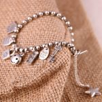 S925 <b>silver</b> bracelet female Japanese Korean fashion personality all-match bead bracelet <b>Jewelry</b> Pendant multi paragraph