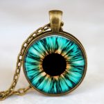 2014 Fashion Women <b>Jewelry</b> Evil Eye Pendant Necklace Aqua Blue Eye Pendant Human Iris Eye <b>Jewelry</b> <b>Antique</b> Bronze with Gift