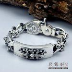 Thai <b>Silver</b> Bracelet S925 <b>Sterling</b> <b>Silver</b> Retro <b>Jewelry</b> Cross Men Men Classic Thai <b>Silver</b> Bracelet Domineering Boss Chain