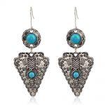 JEAE Brand Vintage Antique Silver Color Oorbel Brincos Mujer Pendientes Drop Earrings Boho Chic <b>Native</b> <b>American</b> <b>jewelry</b> 2017 New
