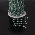 5Meter,Faceted blue color Crystal Glass Rondelle Rosary Chains,Brass Plated Wire Wrapped Chains <b>Jewelry</b> <b>Making</b> 3x4mm