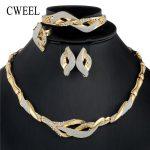 CWEEL African Beads <b>Jewelry</b> Set Vintage Dubai <b>Jewelry</b> Sets For Women Gold Color Wedding <b>Jewelry</b> Bridal Choker Necklace Set