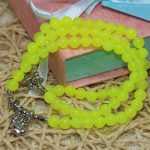 Original multilayer bracelet for women natural lemon stone chalcedony jades 6mm round beads factory outlet <b>jewelry</b> <b>making</b> B2216