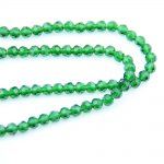 Grass Green 4mm Glass Cut Ball Crystal 32 Faceted Ball Beads K9 Glass Loose Spacer Bead For <b>Jewelry</b> <b>Making</b> Home Decoration