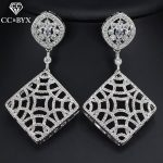 CC earrings for women fashion <b>handmade</b> hollow design crystal beads wedding accessories bride engagement party <b>jewelry</b> gift E0067