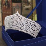 Wedding Crown Bridal Tiaras and Crowns full Cubic Zirconia Silver Color Hair Crown for Women 2018 Hair Accessories <b>Jewelry</b>