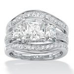 Fashion <b>Jewelry</b> Noble <b>jewelry</b> <b>Jewelry</b> Gem 5A Zircon stone 14KT White Gold Filled 3 <b>Wedding</b> Band Ring Set Sz 5-11 Gift