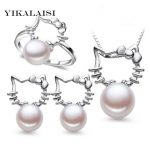YIKALAISI 2017 <b>Necklace</b> Pearl Jewelry sets Natural Pearls 925 sterling <b>Silver</b> jewelry <b>necklace</b>/ earrings/pendants For Women