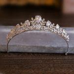 The Clover Full Zircon Tiara Bride Micro Pave CZ Crown Headband <b>Wedding</b> Hair Accessories Diadem <b>Jewelry</b> Tiaras Coroa WIGO0952