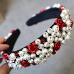 5 colors Baroque Rose Flower Crown Tiaras Handwork Crystal Beads Gypsophila Hairbands Pearl <b>Wedding</b> <b>Jewelry</b> Hair Accessories new