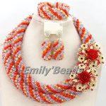 New Latest Nigerian Wedding African Beads <b>Jewelry</b> Set <b>Handmade</b> Bridal Crystal Beads Necklace <b>Jewelry</b> Set Free Shipping AMJ212