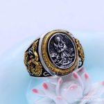 925 sterling <b>silver</b> <b>jewelry</b> hand lotus Guanyin peace Qinglong Tengyun ring <b>jewelry</b> <b>jewelry</b> free shipping