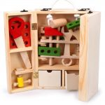 Let's <b>Make</b> Let's <b>Make</b> Wooden Construction Nuts And Bolts Set With Screwdriver Wooden Montessori Toy Fine Motor
