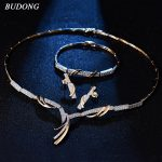BUDONG Luxury Innfinity Bridal <b>Jewelry</b> Sets Wedding <b>Necklace</b> Earrings Bracelet For Brides Engagement <b>Jewelry</b> Women XUT809