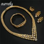 OUMEILY Turkish Flower <b>Jewelry</b> Jewellelry Sets for Women Crystal Dubai Gold Color Indian Bridal Gift African Beads <b>Jewelry</b> Set