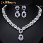 6 Colors High Quality African CZ Beads Big Red Green Blue Cubic Zirconia Luxury Women <b>Jewelry</b> Sets For Evening Party T099