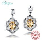 I&zuan 9.41ct Natural Citrine Drop Earrings 100% 925 <b>Sterling</b> <b>Silver</b> <b>Jewelry</b> Flower Mystic Topaz Earrings For Women Brinco