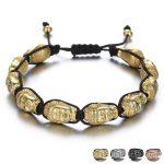 NEW Buddha Prayer Bracelets for Women Men <b>Handmade</b> Chain Black String Braided Bracele Hands <b>Jewelry</b> Adjustable Weaving Bracelets