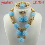 New Design <b>Silver</b>/Gold Beads Jewelry Set Women African Fashion Jewelry Accessory Nigerian Wedding Beads Set CK70-1