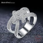 ANFASNI Top Quality Fashion Brand Real Solid 925 Sterling Silver Ring <b>Wedding</b> Rimantic Knot Rings Engagement <b>Jewelry</b> For Women