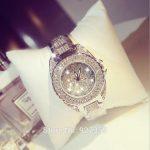 2018 Luxury Women Full Rhinestone Watches Fashion Lady Dress Watch Stainless Steel <b>Silver</b> Wristwatch Blingbling diamond Watch