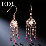 EDI Genuine Freshwater Pearls 925 Sterling <b>Silver</b> Shell Shape Engagement Drop Tassels <b>Earrings</b> For Women Fashion Fine Jewelry